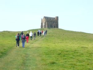 Walking to our first sacred site, the magnificent St Catherine's Chapel in Abbotsbury